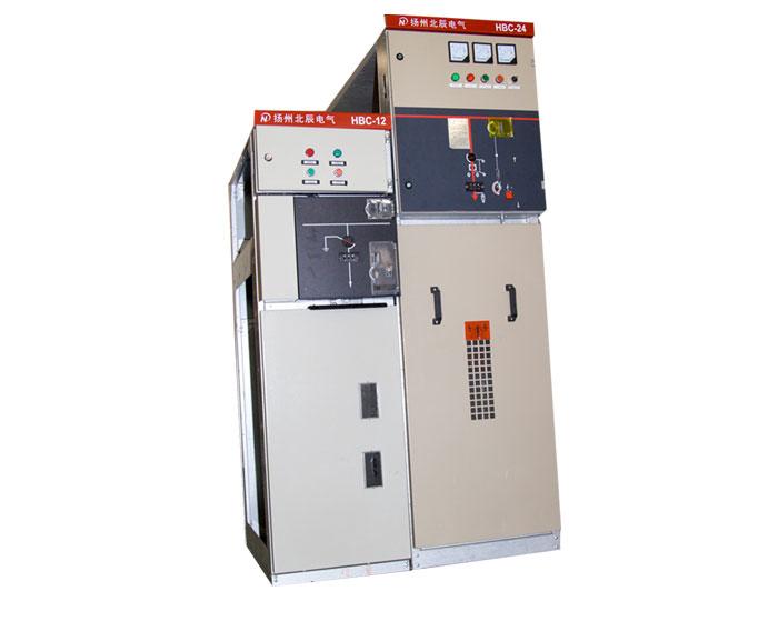 HBC型交流高压SF6负荷开关设备(简称环网柜)是一种适用于配电自动化的既紧凑又可扩展的高压开关柜。每个开关柜完成一定的功能,有独立的金属外壳,可在左右两个方向任意扩展,根据不同的设计方案组合排列。环网柜内可安装SF6负荷开关,或安装SF6负荷开关熔断器组合电器。 环网柜适用于24KV、50Hz的三相交流配电系统,用于环网供电或终端供电。环网柜可安装在工矿企业、住宅小区、公园、学校等的配电系统,也可装入紧凑型箱式变电站中,用于配电变压器的控制和保护。环网柜上可安装各种监控装置和继电保护装置,实现配电自动化